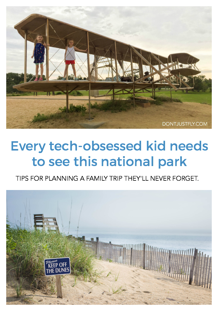 Every tech-obsessed kids needs to see this national park: Plan a trip to the Wright Brothers Memorial in Kitty Hawk, NC.