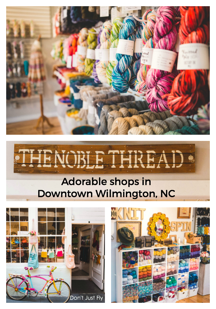 The Noble Thread, an adorable yarn shop in Downtown Wilmington, NC