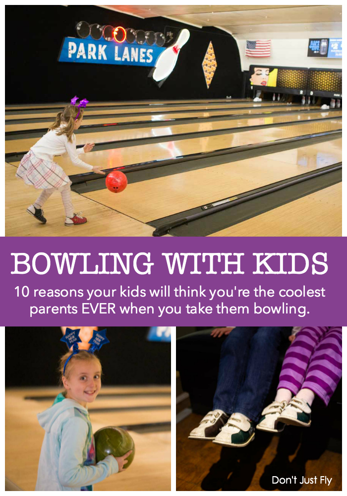 Bowling with kids: 10 reasons your kids will think you're the coolest parents EVER when you take them bowling.