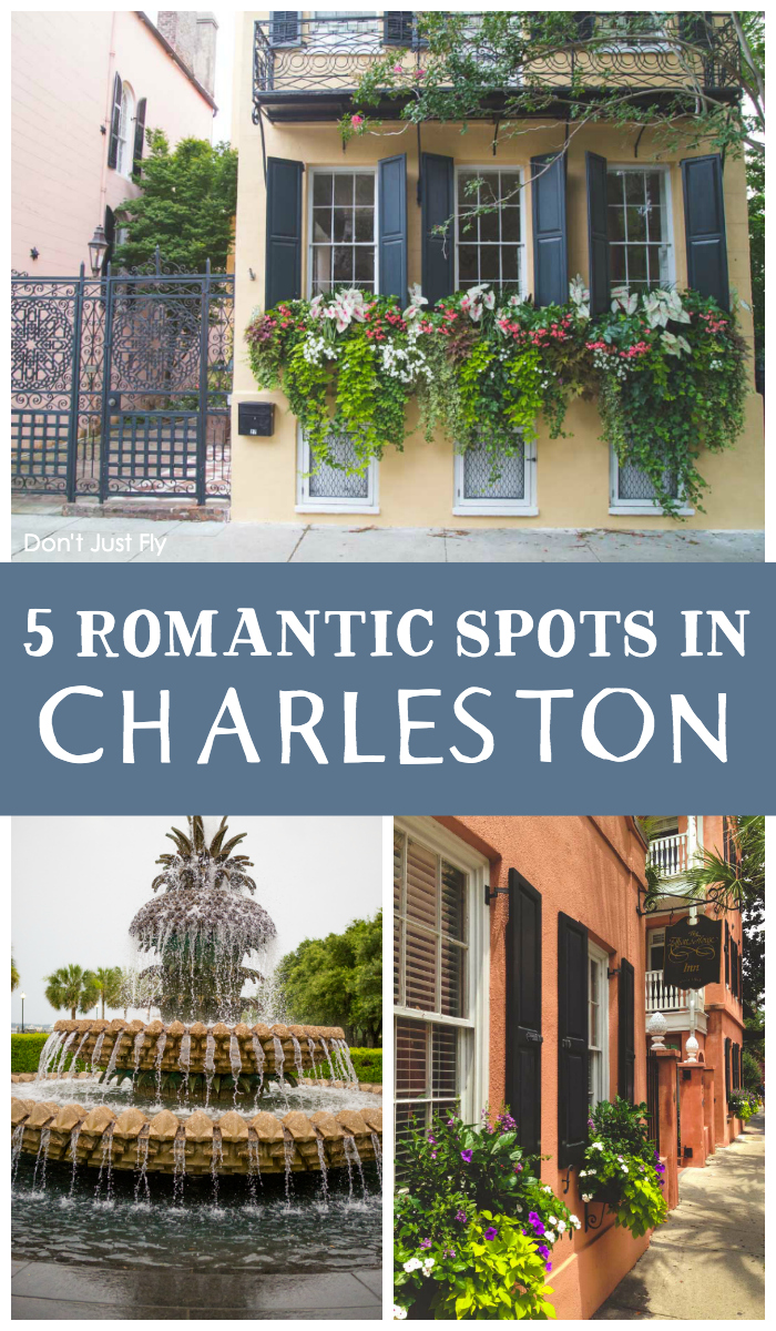 5 romantic spots in Charleston to go with your sweetheart. The best recommendations for where to stay and what to do.
