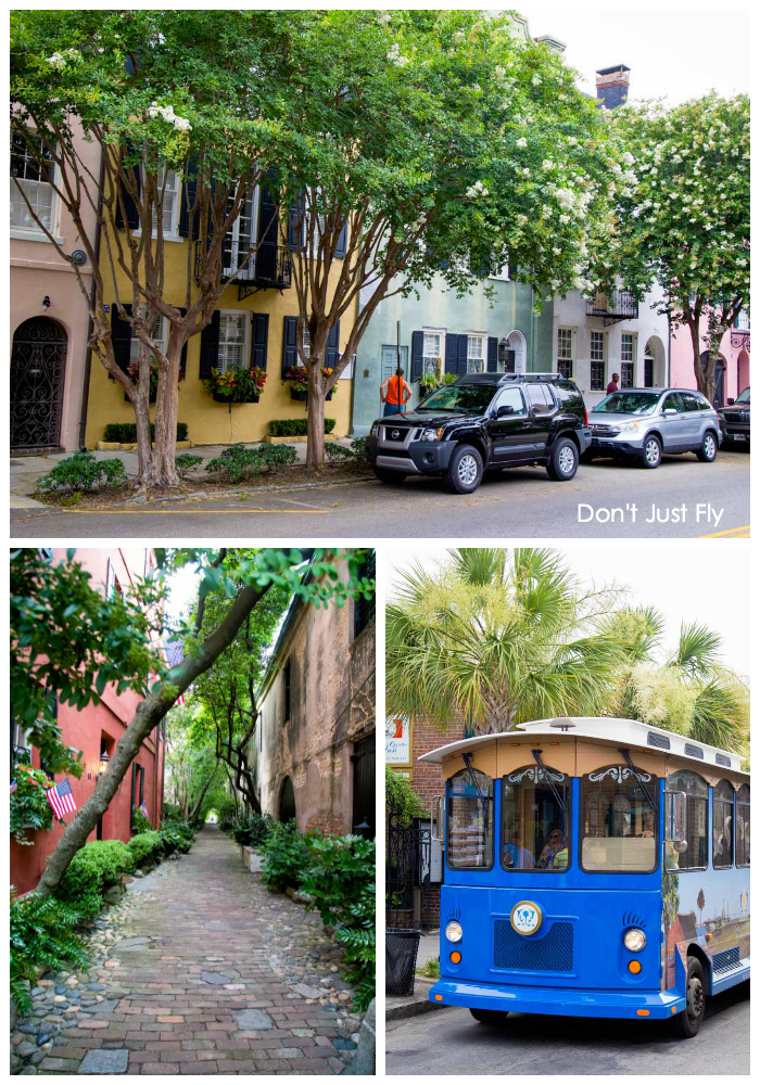 "Charleston, SC is the most romantic city in the south. Visit the ""painted ladies"" pastel row houses, cobblestone alleyways, and adorable trolley rides."