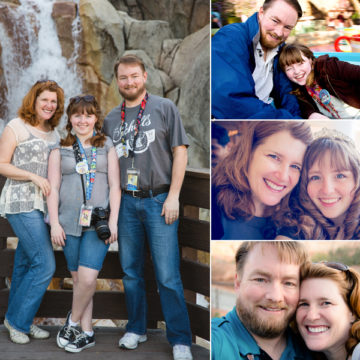 Jessica Holden's family from various trips to Disneyland.