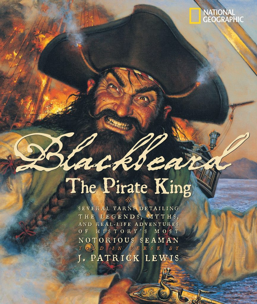 The cover graphic of Blackbeard the Pirate King book.