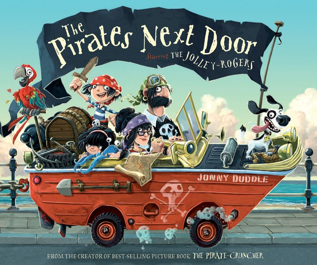 The graphic for The Pirates Next Door book