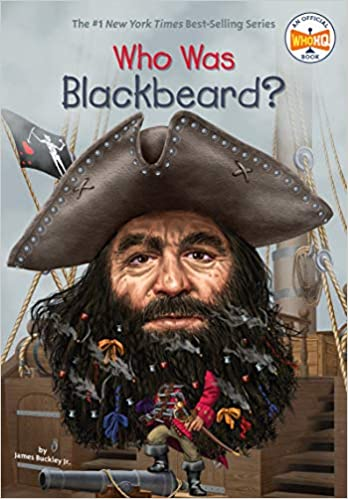 The graphic for Who Was Blackbeard? book
